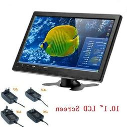 "10.1"" LCD Monitor Display 2 Channel Video Input Security Mon"