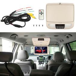 """12"""" Flip Down TFT LCD Monitor Car Roof Mounted Monitors Wide"""