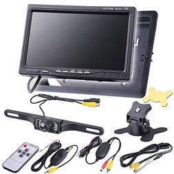 "Yescom 7"" 16:9/4:3 TFT LCD Digital Car Rear View Color Monit"