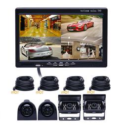 "7"" Monitor for RV Truck + 4 Camera Night Vision Rear View Ba"