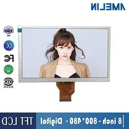 AMELIN 8 inch 800x480 display panel RGB interface TFT LCD mo