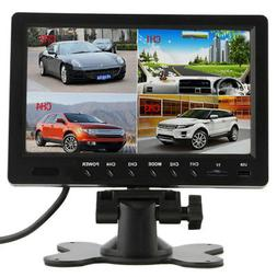 "9"" HD Quad Split TFT Car Backup DVR Video Recording LCD Moni"