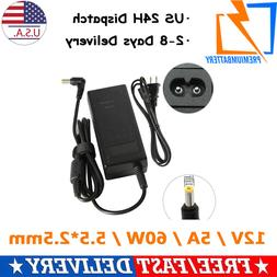 AC Adapter Charger for LCD Monitor Laptop 12V 5A Laptop Powe