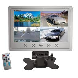 Pyle PLHRQD9W 9-Inch Quad TFT/LCD Video Monitor with Headres