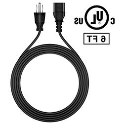 FITE ON 6ft AC IN Power Cord Outlet Socket Cable Plug Lead