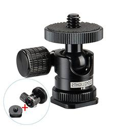 Ulanzi Aluminium 1/4'' Mini BallHead + Hot Shoe Mount Adapte
