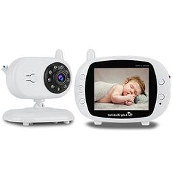 Video Baby Monitor, Witmoving 3.5'' LCD Wireless Video Digit