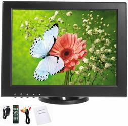 YaeCCC 12 inch CCTV LCD Monitor VGA/AV/HDMI/TV Input Display