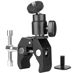ChromLives Camera Clamp Mount Ball Head Clamp - Super Clamp