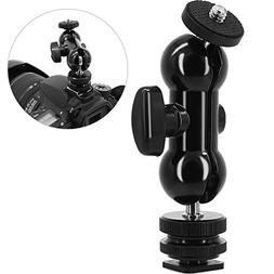 Cool Ball head Shoe Mount Double Ballhead Hot Shoe Mount and