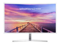 "New Samsung 32"" Full HD Curved LED Monitor Glossy White VGA"