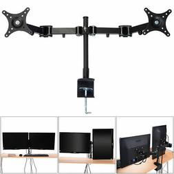 Dual Monitor Arm Desk Table Mount Stand/For 2 LCD Fully Swiv