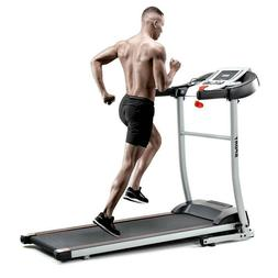 Folding Treadmill with Safety Lock, LCD Monitor, Indoor Acti