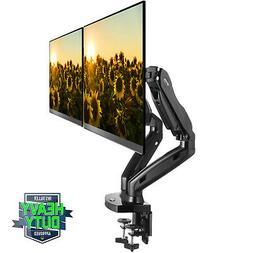 Full Motion Dual LCD Monitor Gas Spring Desk Mount for Scree