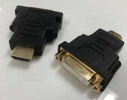 HDMI Male to DVI-D 24+1 Pin Female M-F Adapter Converter for