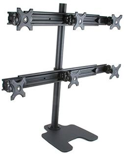 MonMount Hex 6 Freestanding Monitor Stand Mount for Six Moni