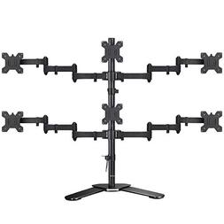 Suptek Hex LED LCD Monitor Stand up Free-Standing Desk Stand