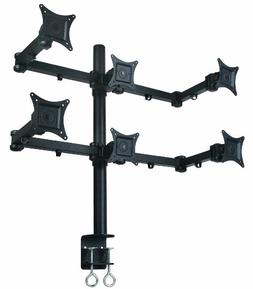 Mount-It! Hex LCD Monitor Mount Stand for 6 Monitors, Heavy-
