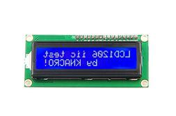KNACRO IIC/I2C/TWI 1602 Serial Blue Backlight LCD Module for