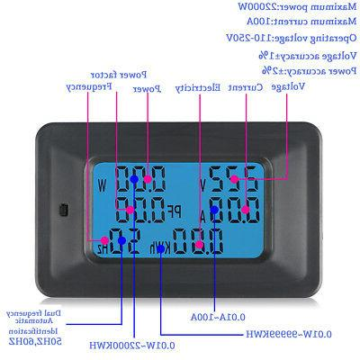 100A Panel Power Monitor KWh Ammeter