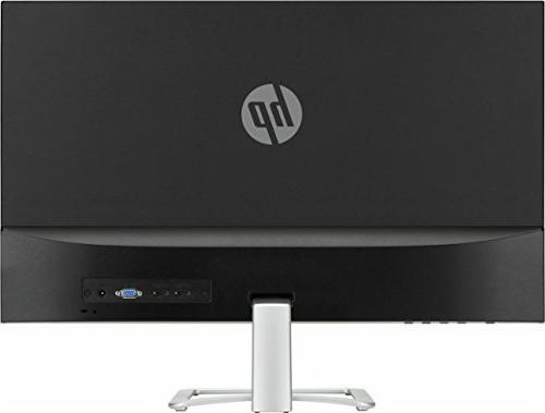 "2017 HP 27"" Widescreen IPS LED FHD Monitor, response time, viewing ratio, HDMI and VGA Natural"