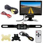 "20ft RCA Wired Backup Parking Rear View System 7"" TFT LCD Mo"