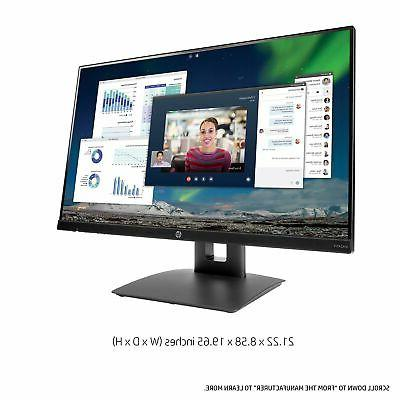 HP 23.8-inch Monitor with Tilt/Height Adjustment and Built-in