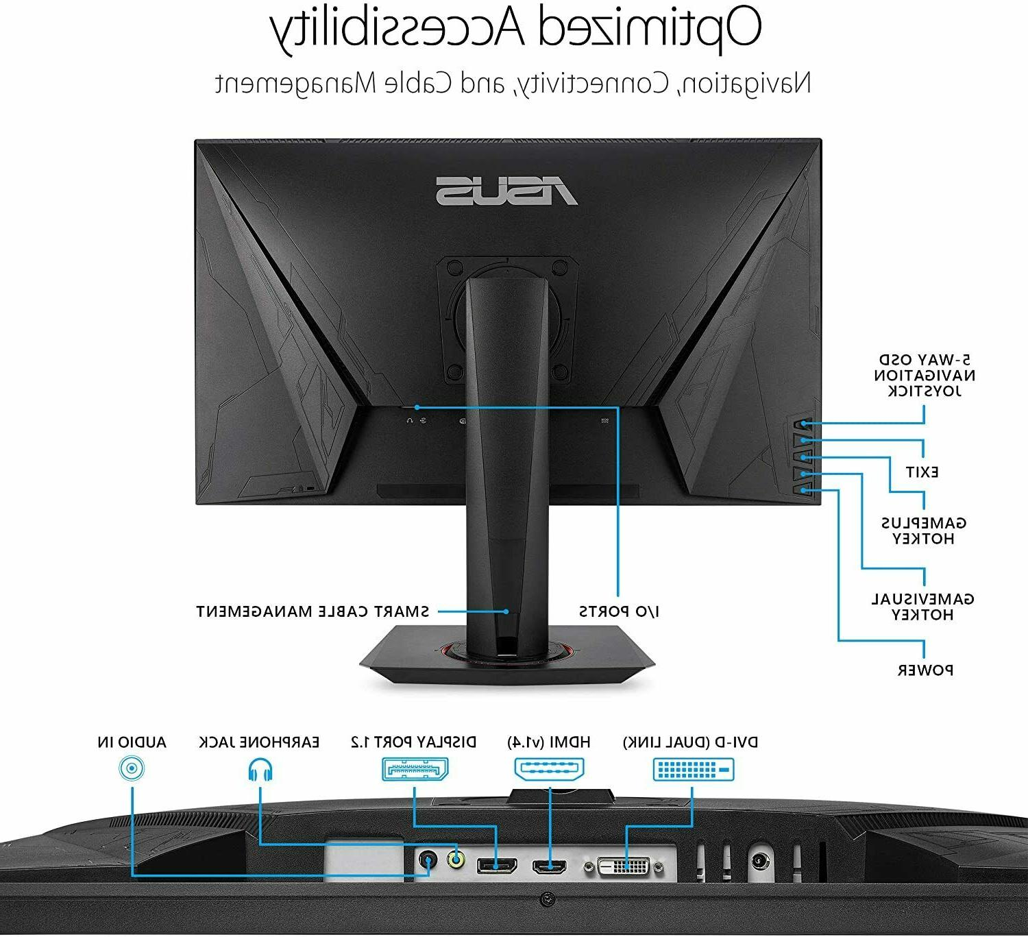 "Asus 27"" Widescreen 0.5ms DVI/HDMI/DisplayPort VG278QR"
