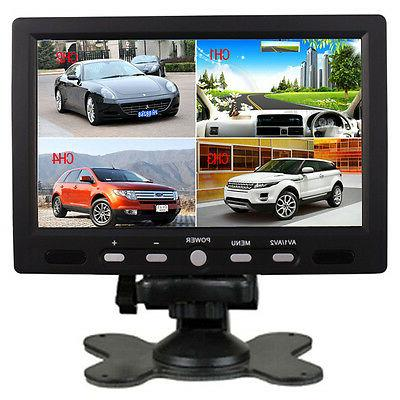 "7"" TFT LCD Color 4 Split Video 4-CH Input Car Rear View Moni"