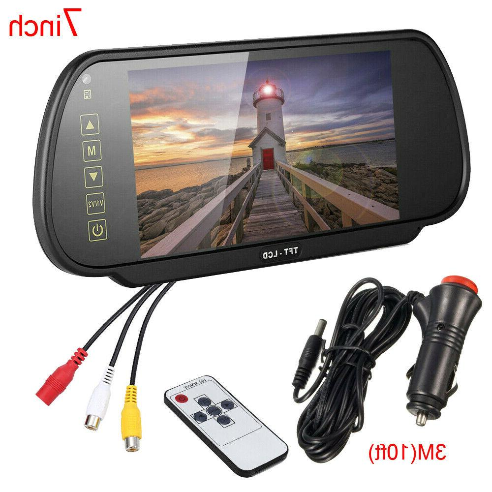 7 inch lcd color screen car reverse