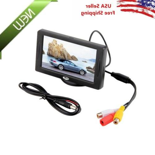 Car Rear View System Backup Reverse Camera Night Vision 4.3""