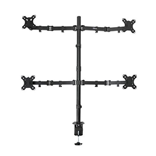 NavePoint Articulating Quad LCD Monitor Mount Stand C-Clamp