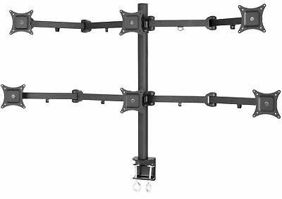 VIVO Hex LCD Monitor Desk Mount Stand Heavy Duty & Fully Adj
