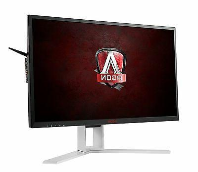 AOC AGON LED LCD Monitor 16:9 1 - 2560 - - 50,000,000:1 - Speakers HDMI VGA DisplayPort - USB 47 W Red