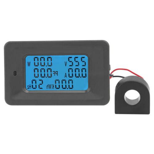 100A AC LCD Digital Panel Power Meter Monitor Voltage Voltme