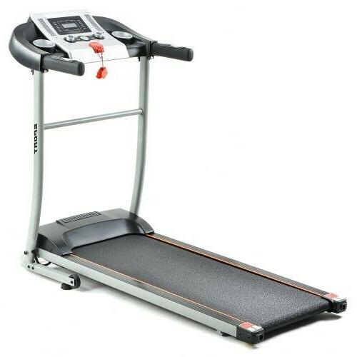 Folding Treadmill with Safety Lock, LCD Activity 0.8-12km/h