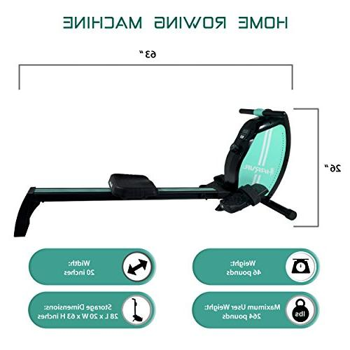 Harvil Magnetic Rowing Machine Rower with Tension Resistance System, LCD