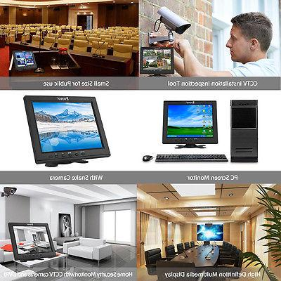 "Mini 8"" inch Video Audio VGA Monitor CCTV DVD PC CCD"