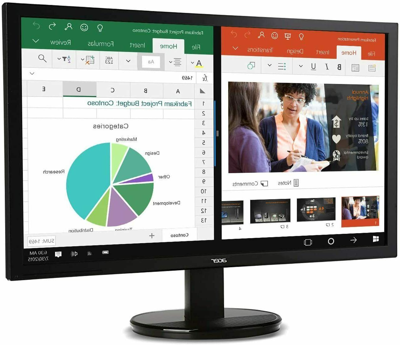 """NEW Acer 24"""" Full HD IPS Widescreen LCD Monitor AMD Free-Syn"""