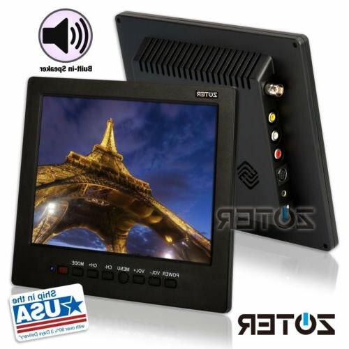 "ZOTER 8"" TFT LCD Monitor Video Audio AV VGA BNC Input Screen"