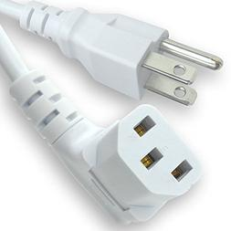 10 Feet Long Right Angled White AC Power Cord Cable Pure Cop