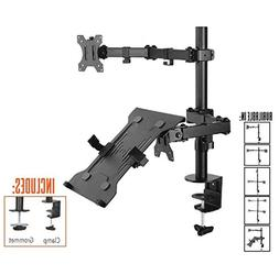 Stand Steady Monitor Mount + Laptop Stand | Height Adjustabl