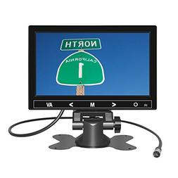 7 Inch TFT LCD Car Monitor 2 Video Input Vehicle Backup Disp