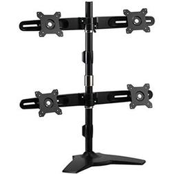 Amer Mounts Stand Based Quad Monitor Mount for four 15-24 LC