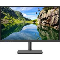 narrow bezel lit monitor black