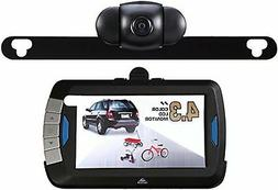 PEAK Digital Wireless Back-Up Camera, Color LCD Monitor, 4.3