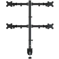 Quad LCD Monitor Desk Mount Stand Fully Adjustable Fits Four