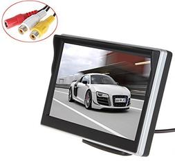 SallyBest® 5 Inch TFT LCD Digital Car Rear View Monitor 2 V