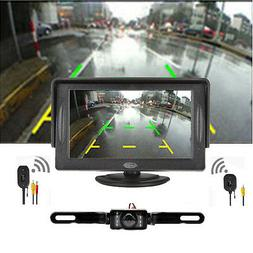 "Eoncore 4.3"" TFT LCD Monitor + Wireless Car Backup Camera Re"