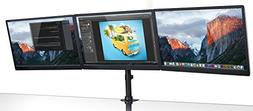 Mount-It! Triple Monitor Mount 3 Screen Desk Stand for LCD C